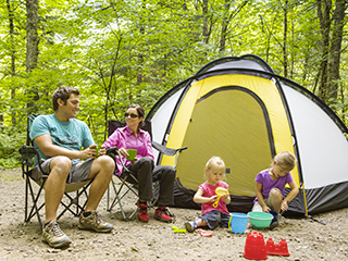 Campground at parc national de la Jacques-Cartier