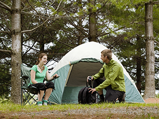 Camping at Parc national de Plaisance