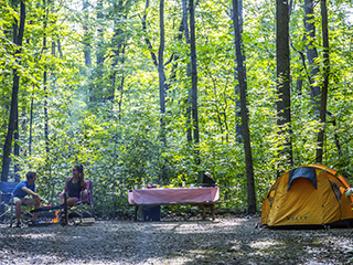 Campground at Parc national d'Oka
