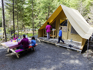 Campground at parc national du Lac-Témiscouata