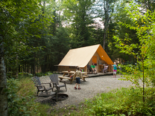 Camping at Parc national du Mont-Mégantic