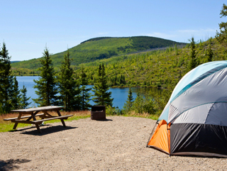 Camping at Parc national des Grands-Jardins