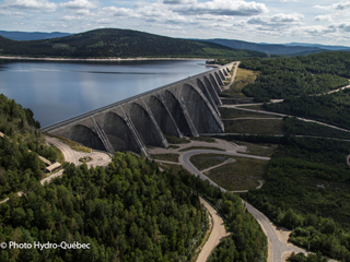 Daniel-Johnson Dam and Manic-5 Generating Station - Manicouagan