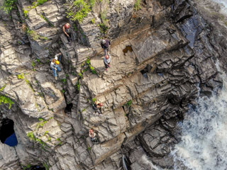 Projet Vertical - Via Ferrata at the Canyon Ste-Anne