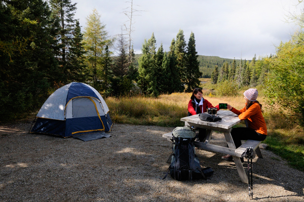Campground at Parc national des Grands-Jardins
