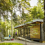 Cabins at parc national des Monts-Valin