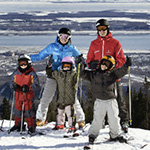 Happy Parents - Kids ski for free !