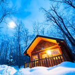 Free Skiing when you book a cabin - Camping et cabins Sommet Morin Heights