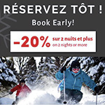 Book Early - 20% off your 2-night or more stay