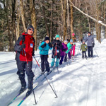 A day of family cross-country skiing