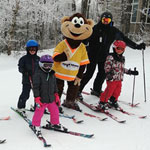 Kids 5 and under stay, ski eat free