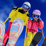 Happy Parents - Kids ski for free!
