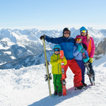 A day of family skiing
