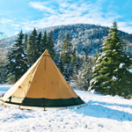 Snowshoeing, cheese fondue and winter camping