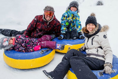 Snow tubing with family Package