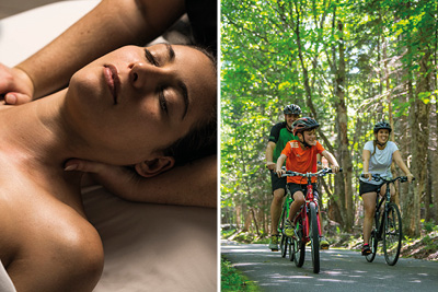 Tremblant Passport 11 - Relaxation massage and Bike rental