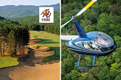 Tremblant Passport 13 - Golf Le Diable and Helicopter Ride