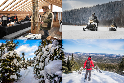 Auberge du Lac Taureau - Passport 5: Snowshoeing and snowmobiling