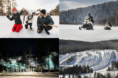 Auberge du Lac Taureau - Passport 8: Snowmobiling and sliding