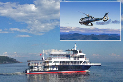 Croisières AML - Whale-watching cruise and helicopter ride