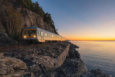 Croisières AML - Train de Charlevoix and whale-watching cruise Passport