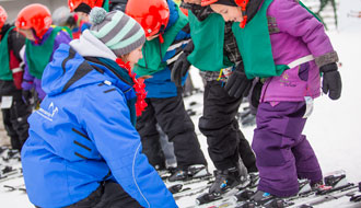The Mysnow Experience teaches 5-to-8-year-olds the basics of skiing or snowboarding