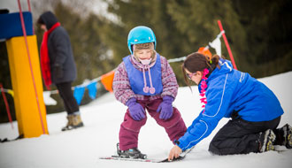 Bring your 5-to-8-year-olds on their first skiing or snowboarding trip!