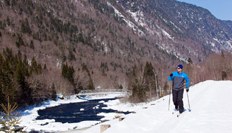 Nordic skiing is one of many choices of activities you can do!