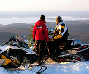 Snowmobiling in Quebec