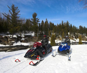 Snowmobile to access remote areas