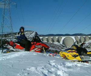 The Côte-Nord region is a choice destination for snowmobilers
