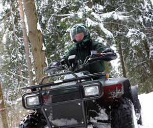ATV, quad and four-wheel riding in winter in Quebec