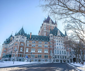 The iconic Château Frontenac in Old Québec City