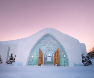 The ice hotel at Village Vacances Valcartier