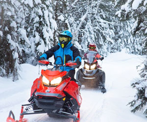 Snowmobilers love the Laurentians!