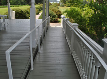 Accessible ramp at the Reford Gardens