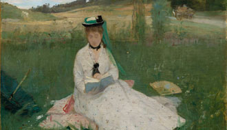 Berthe Morisot, Reading, 1873. Oil on canvas, 46 x 71.8 cm. Cleveland Museum of Art, Hanna Fund, 1950.89