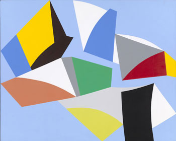 Marcel Barbeau, Diamants, passerelles d'étoiles (Diamonds, Gateway to the Stars), 1997. Acrylic on canvas, 213 × 264.4 cm. Collection of the artist © Marcel Barbeau Estate. Photo : MNBAQ, Idra Labrie