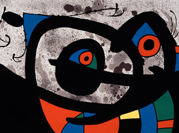 Joan Miró, Le Lézard aux plumes d'or (The Lizard with Feathers of Gold), 1971. Lithograph, 33 x 48 cm. Fundació Pilar i Joan Miró a Mallorca (FPJM-LI-005) © Successió Miró / SOCAN, Montréal / ADAGP, Paris (2019)
