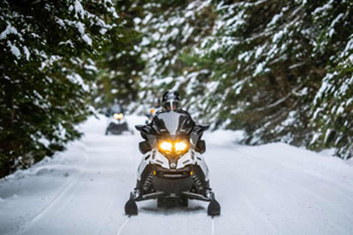 Choice outdoor centres for a snowmobile expedition