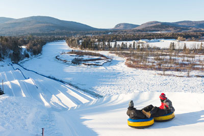 Snow tubing, a favourite of kids and parents