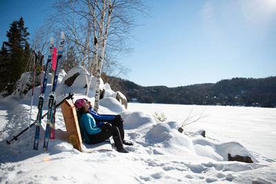 Travel across the Laurentians this winter