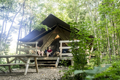 Tents and much more – Huttopia offers special access to nature!