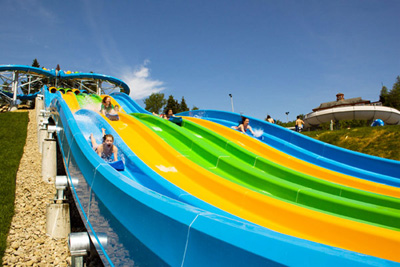 Visit the water parks for lots of laughs with family
