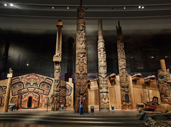 The totems at the Canadian Museum of History