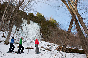 Snowshoeing in La Mauricie National Park