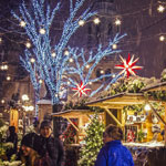 Get into the spirit of the holidays right away at the German Christmas Market