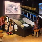 Three featured exhibits at the Pulperie de Chicoutimi museum